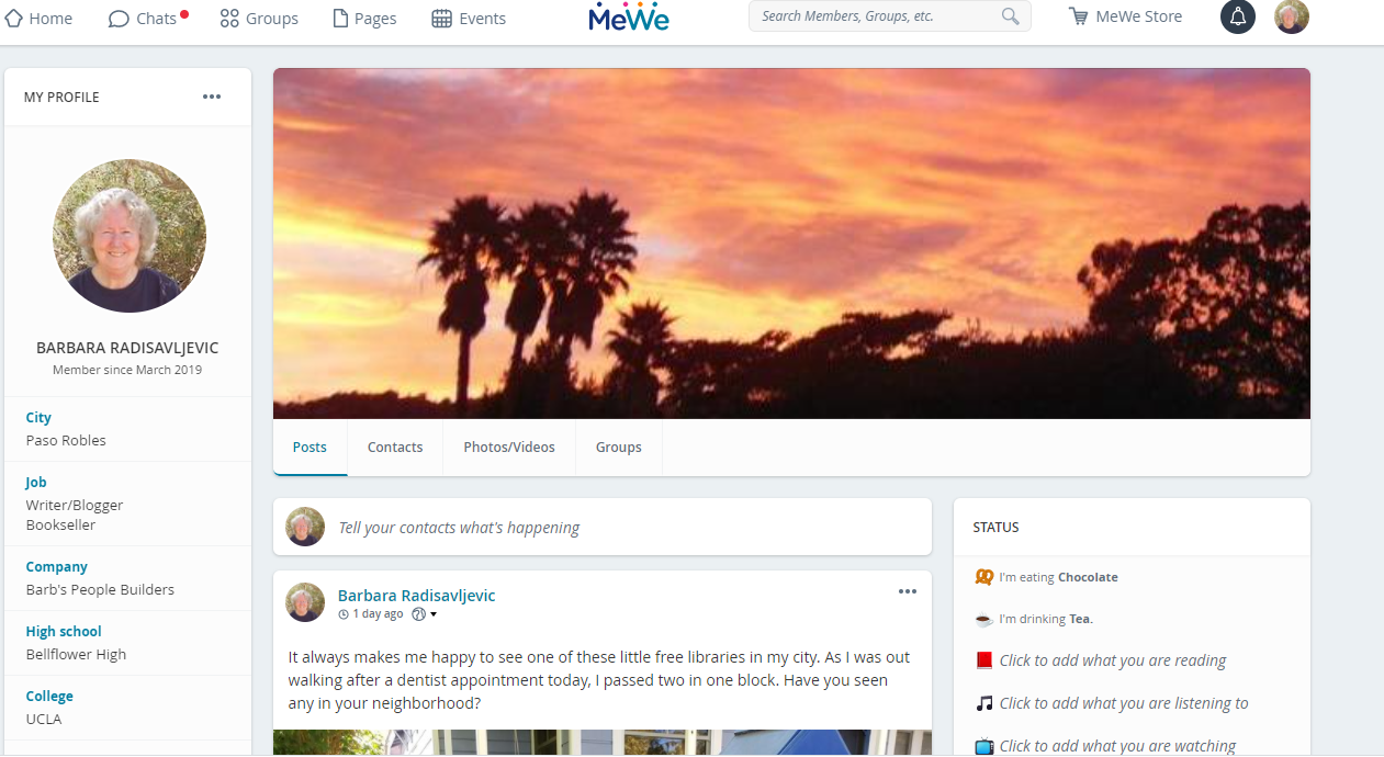 My MeWe Profile Page